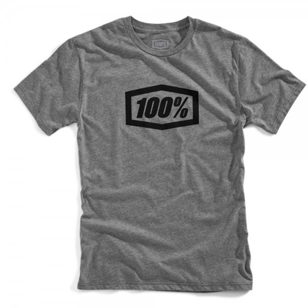100% T-Shirt Essential Gunmetal grau