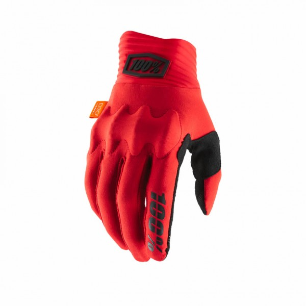 100% Handschuhe Cognito, rot